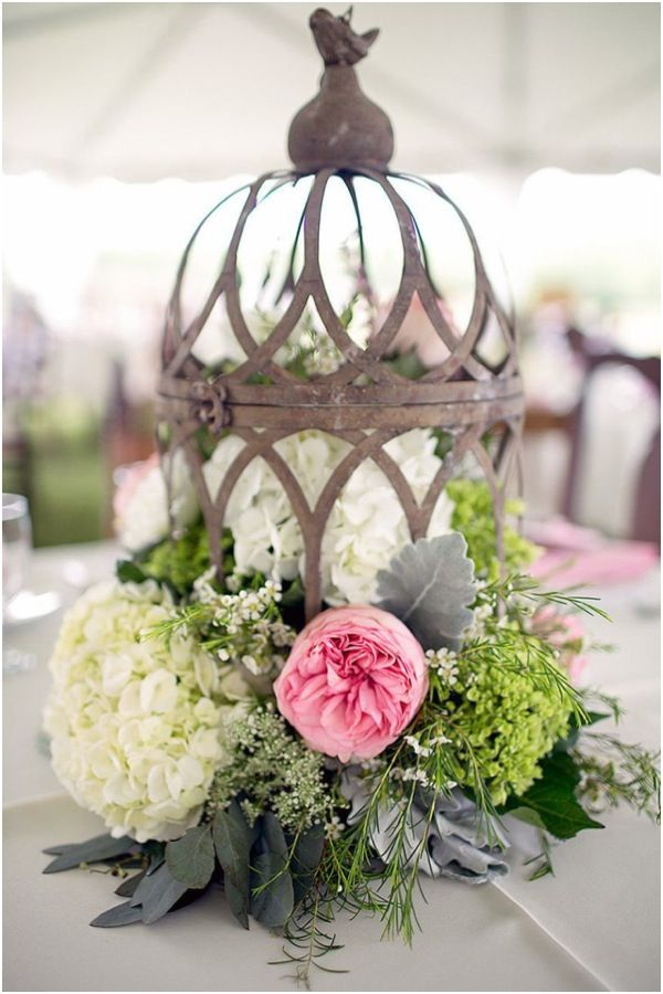 Rustic, Vintage-Styled Wedding Centerpieces.