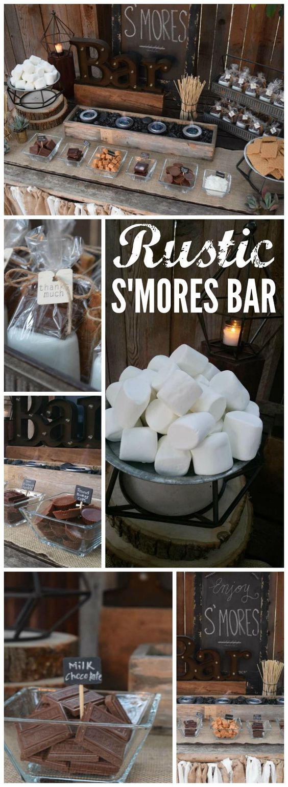 Rustic S'mores Bar Station.