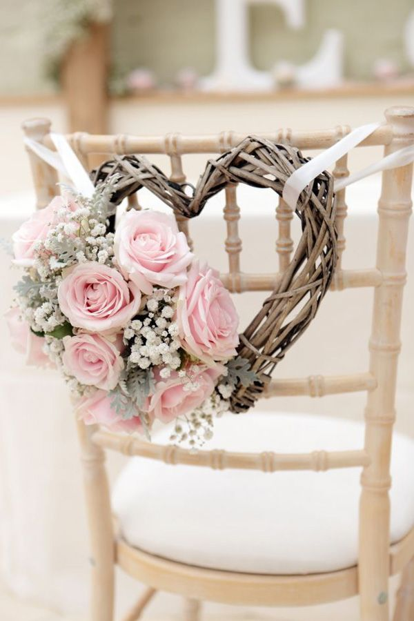 Vintage Wedding Chair Decoration.