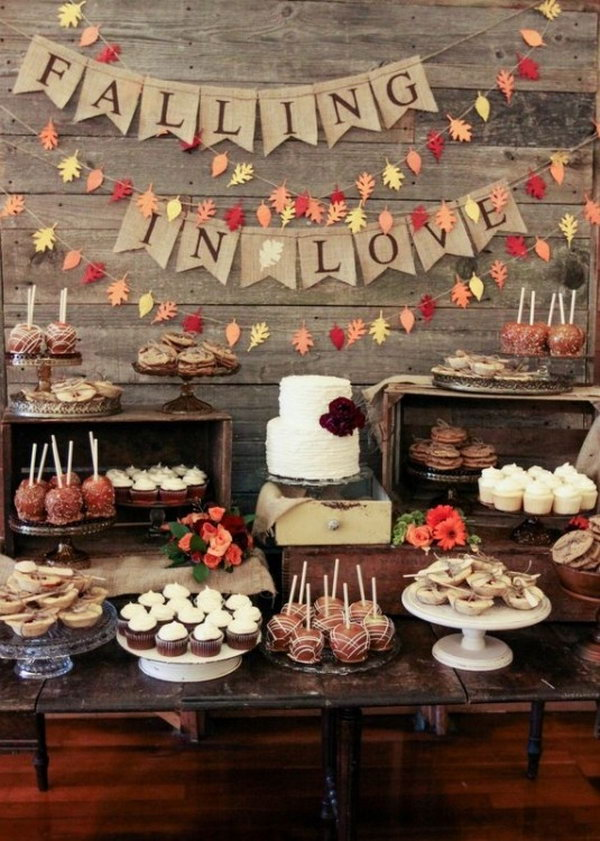 Rustic Wedding Dessert Bar.
