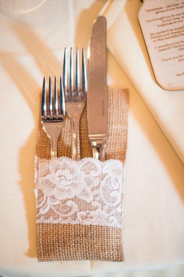 Burlap Wedding Table Idea.