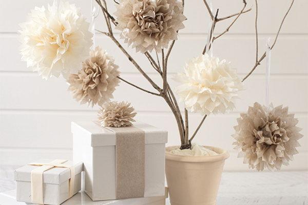 Tissue Paper Pom-Poms.