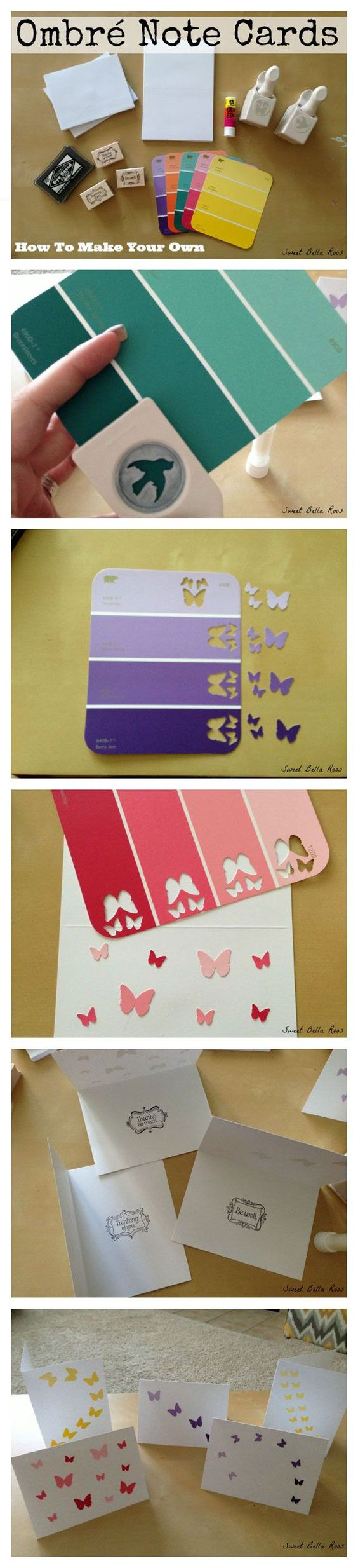 Ombre Paint Chip Design.