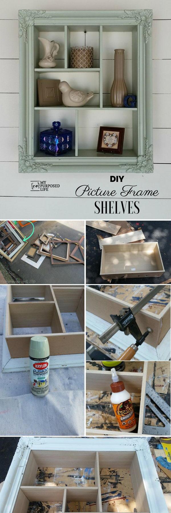 Picture Frame Shelves.