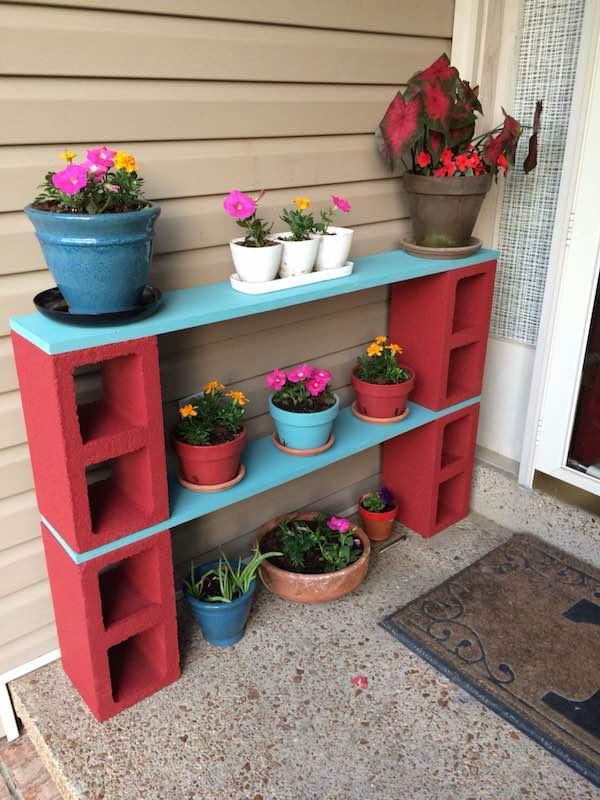 Easy DIY Flower Pot Shelves.