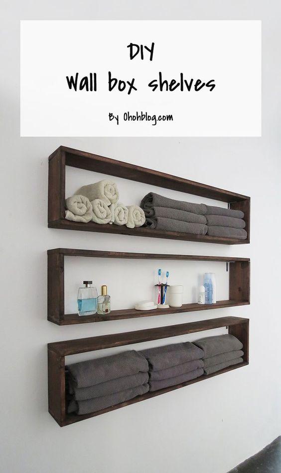 Easy DIY Wall Box Shelves.