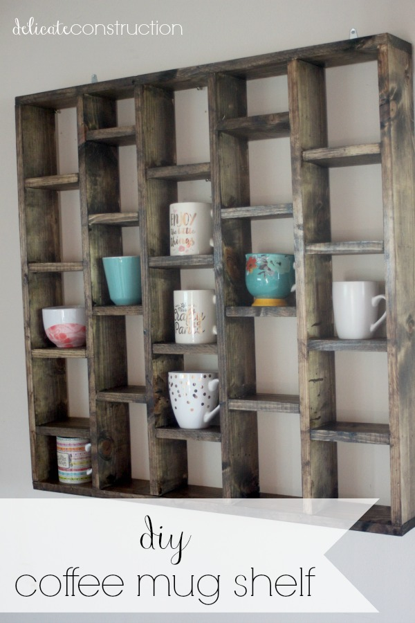 DIY Coffee Mug Shelf.