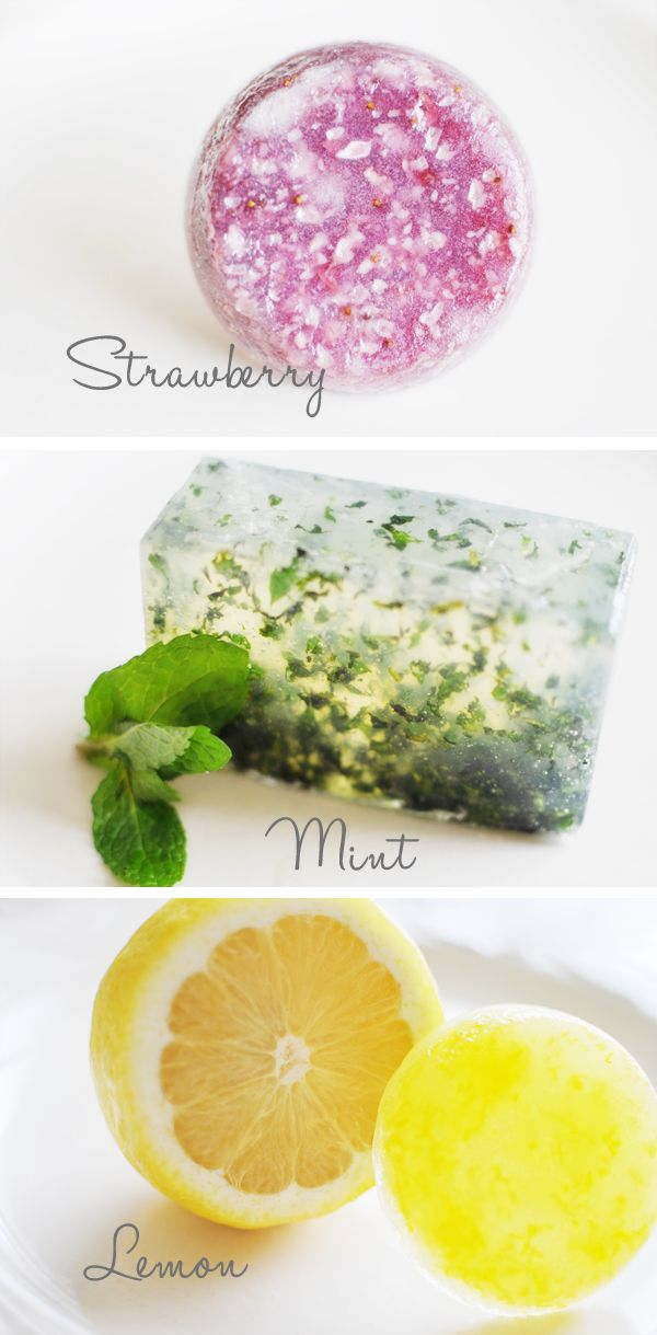 DIY Herb & Citrus Homemade Glycerin Soap Tutorial . Fun and easy to make! Great for gifts or favors. Tutorial via