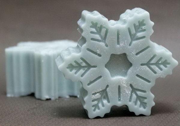 Winter Snowflake Solid Lotion Bar