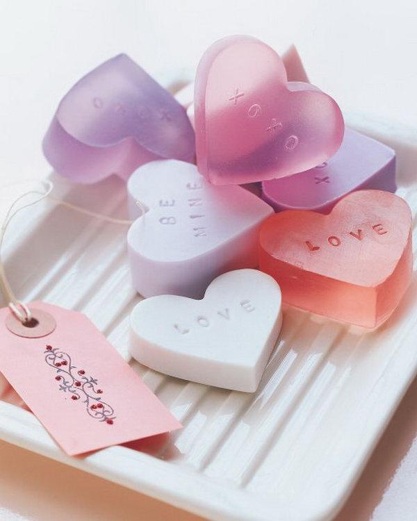 DIY Heart Shaped Soap Tutorial