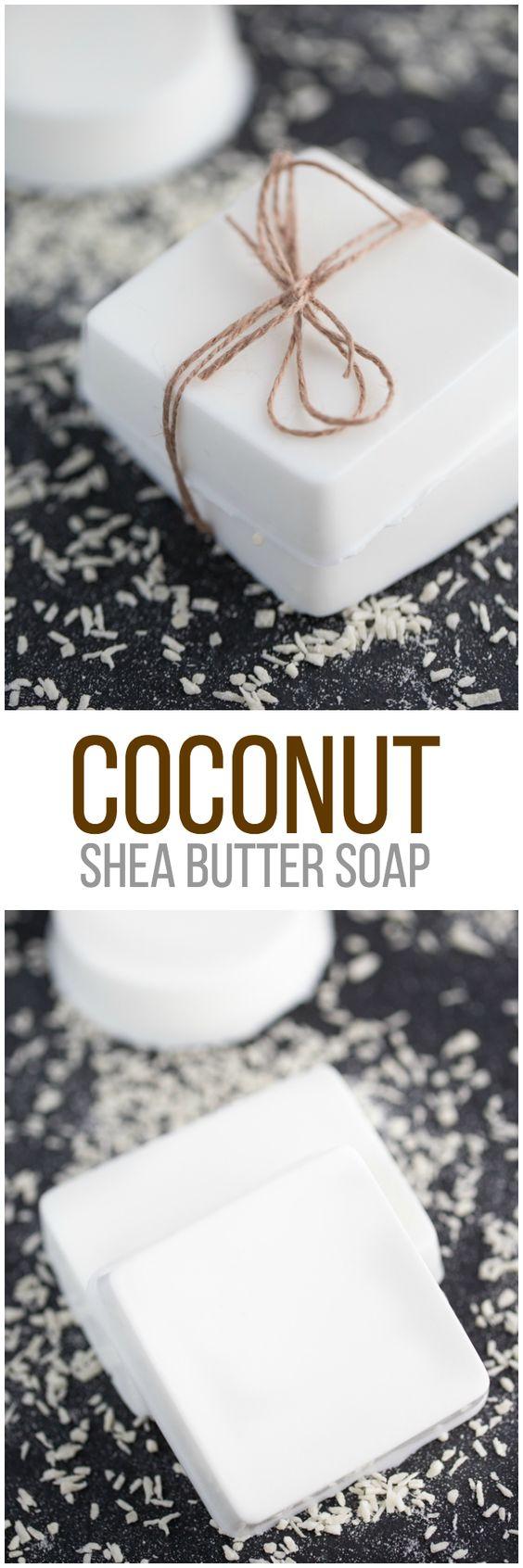 Coconut Shea Butter Soap.