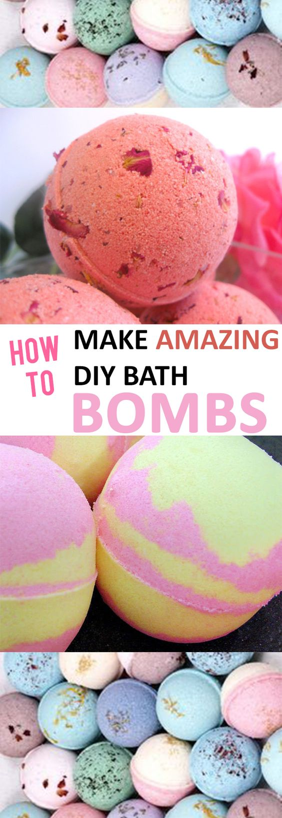 Amazing DIY Bath Bombs.