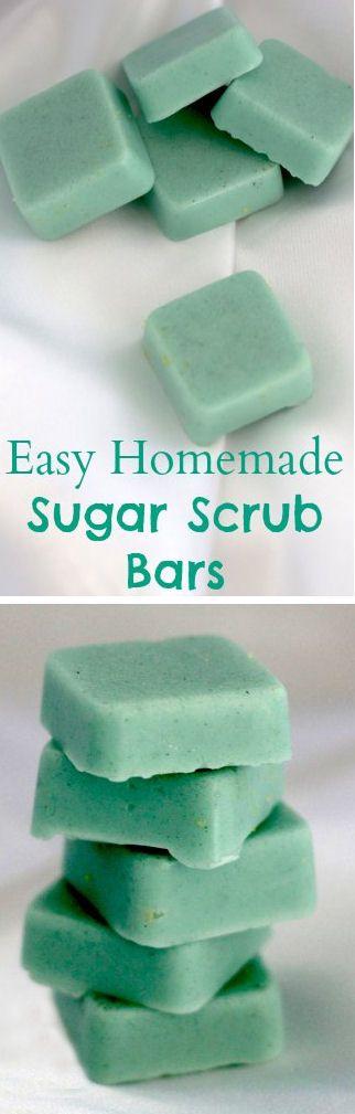 Easy Homemade Sugar Scrub Bars.