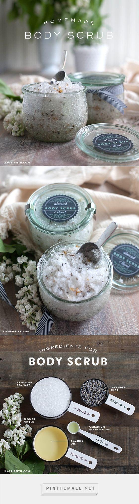 Homemade Almond & Floral Body Scrub.