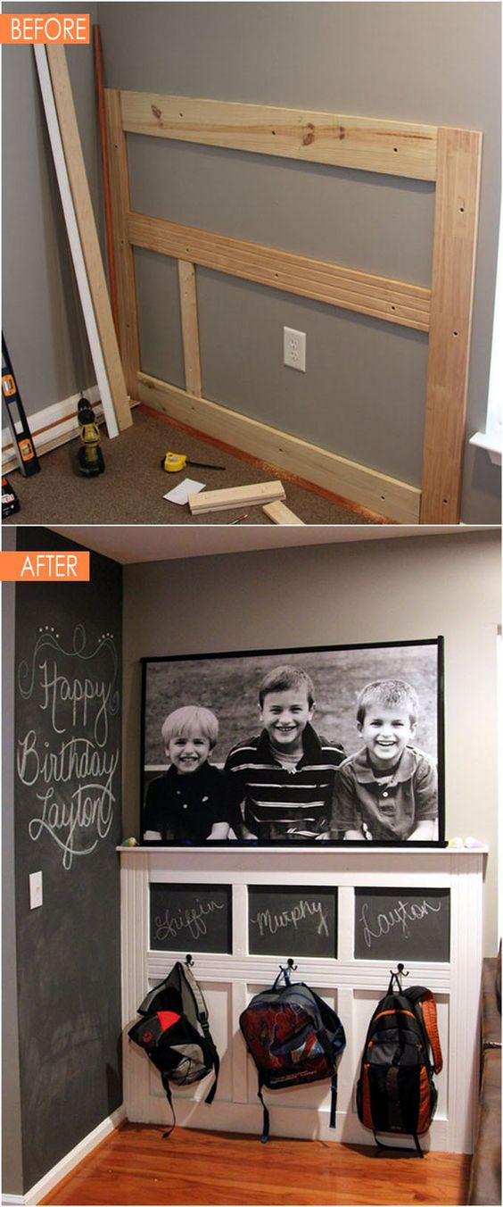 Create a Backpack Wall in the Entryway.