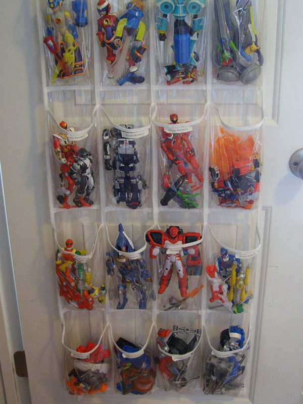 Shoe Organizer Can Also Be Used For Toy Storage.