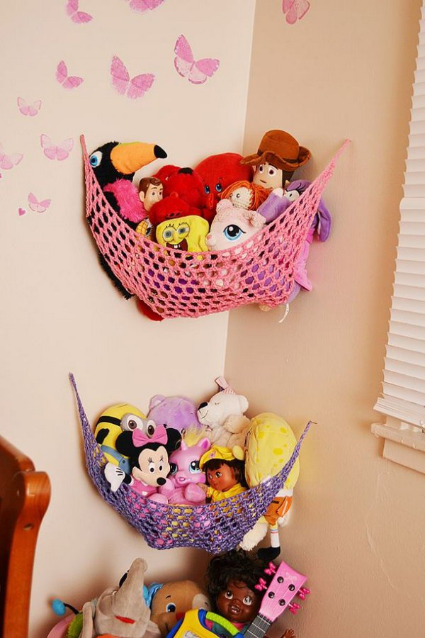 Utilize Corner Space for Stuffed Toy Solution.