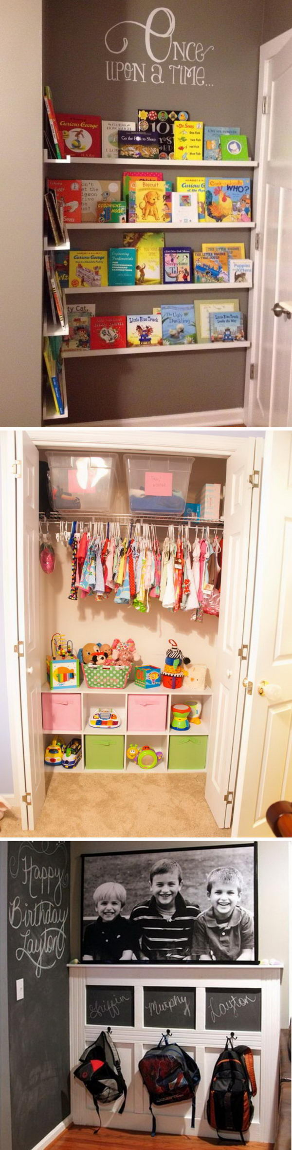 Creative Storage Ideas to Organize Kids' Room.