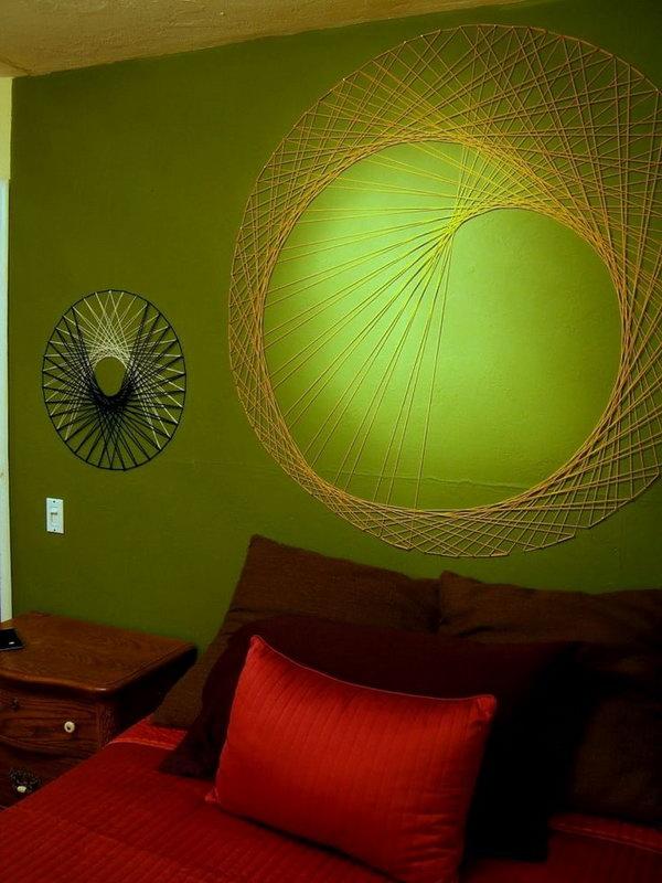 DIY String Wall Art. See the steps