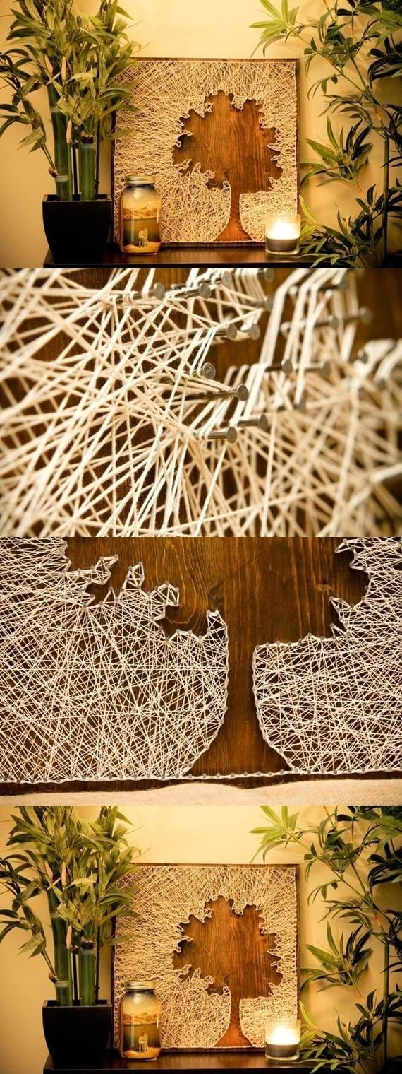 35 DIY String Art Ideas & Tutorials for Your Home Decoration 2017