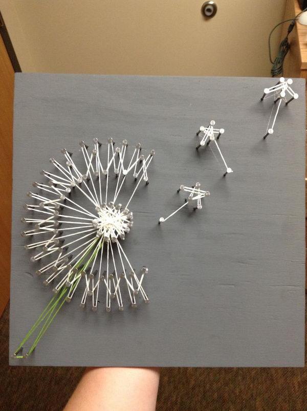 Dandelion String Art.