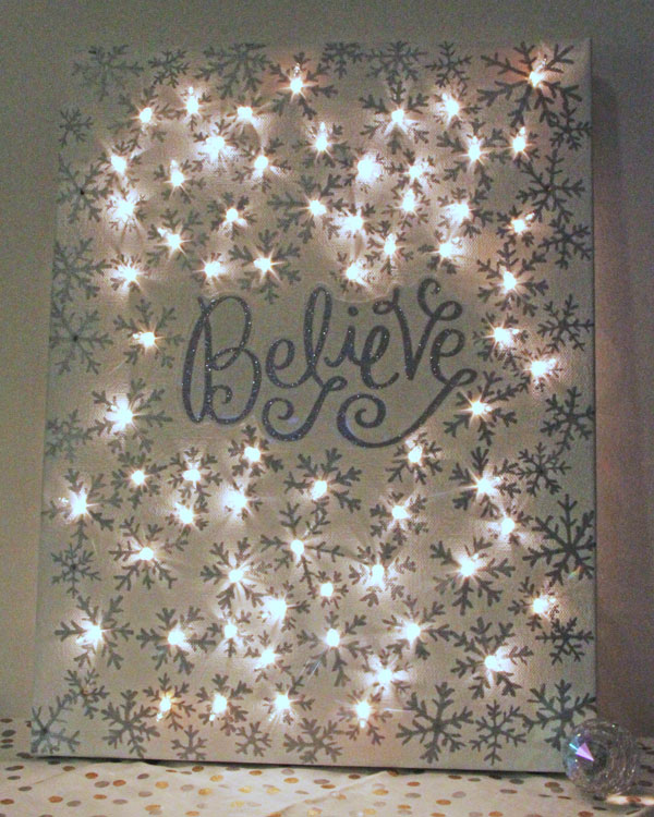 string light diy ideas cool home. DIY Illuminated Canvas Using Sharpies And String Lights Light Diy Ideas Cool Home