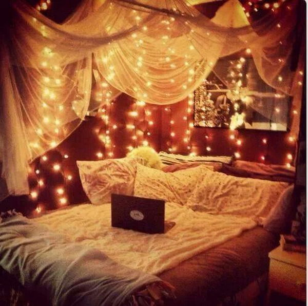 Canopy and Lights for Good Sleep and Sweet Dreams.