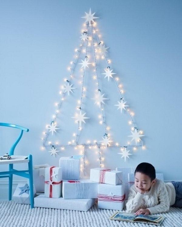 Chrisrmas Tree Decoration with Sring Lights.