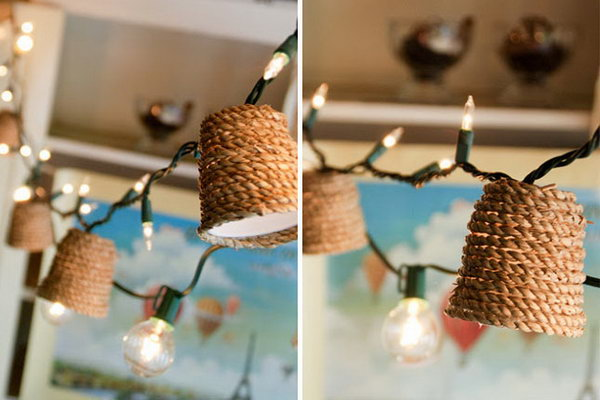 Jute Twinkle Lights. See how to make it
