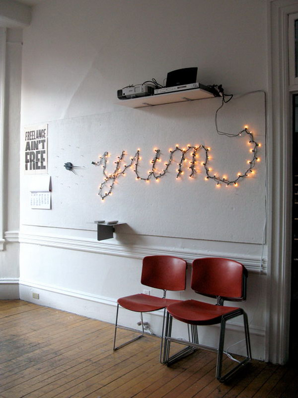 Letters Decoration with String Light.