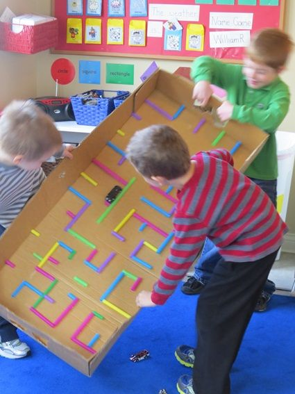 Get A Marble From One End Of The Cardboard Maze To The Other.