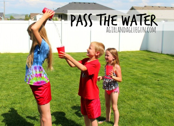 Pass The Water Game.