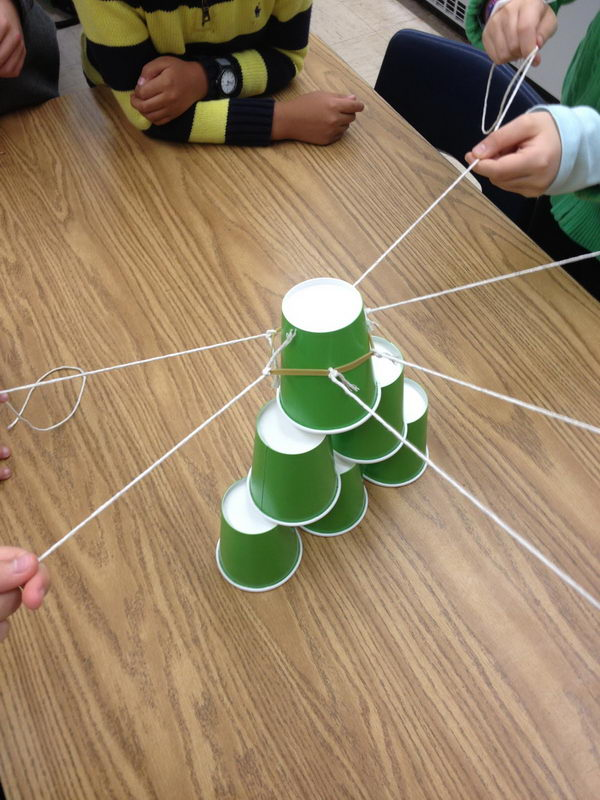 Cup Stack Teamwork.