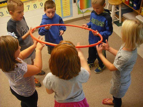 Hula Hoop Team Building Activity.