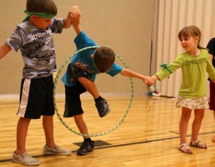 Hula Hoop Relay Race.