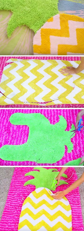 DIY Fruit Rug For Teen Girls Bedrooms.