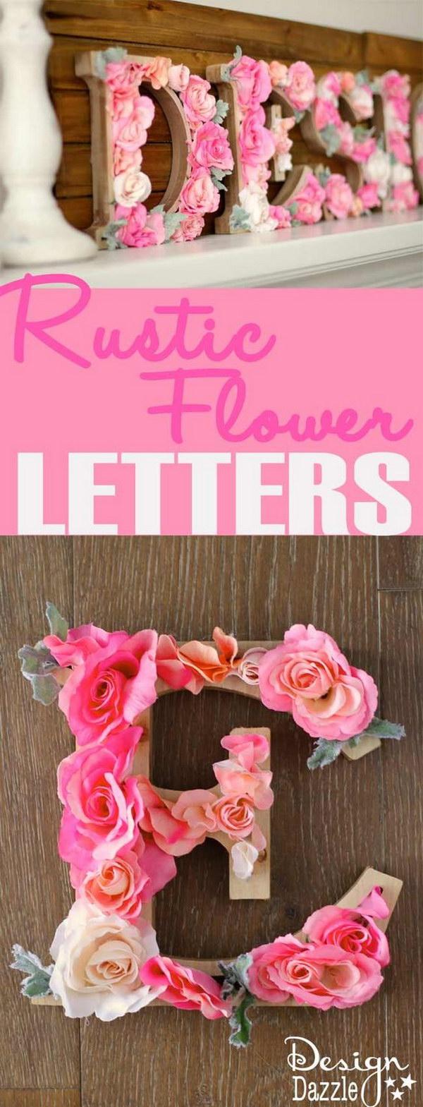 Rustic Flower Letters Tutorial