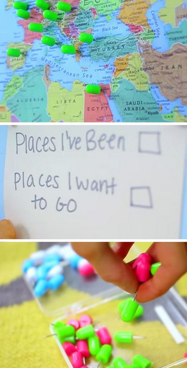 DIY Places I Want to Go Map