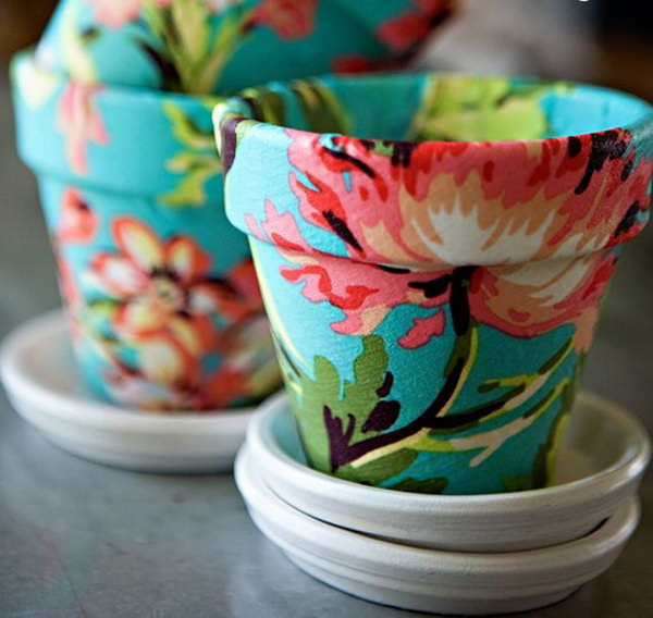 Floral Flower Pots. Get the directions