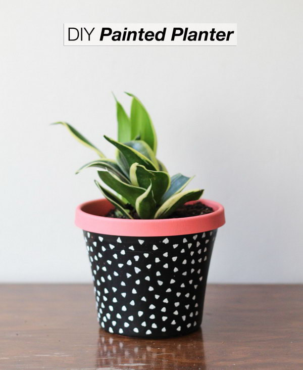 Stamped Pots. Check out the tutorial