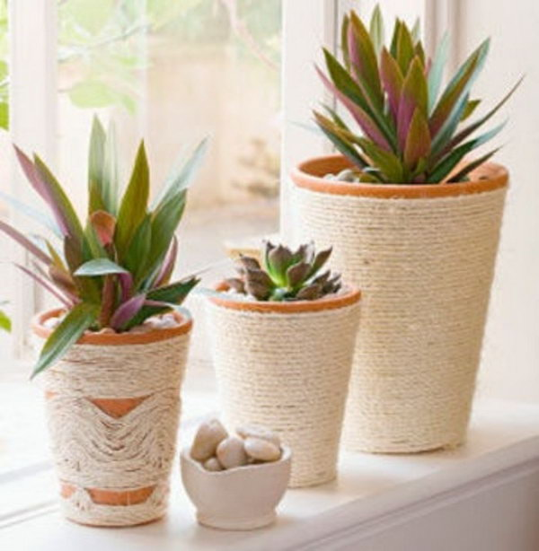 Rope-wrapped Pots. See more
