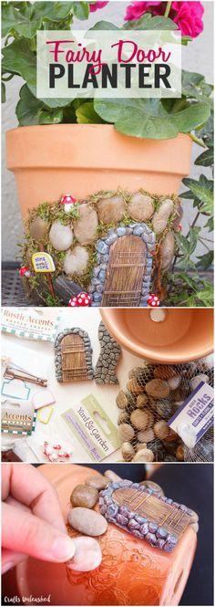 DIY Fairy House Planter.