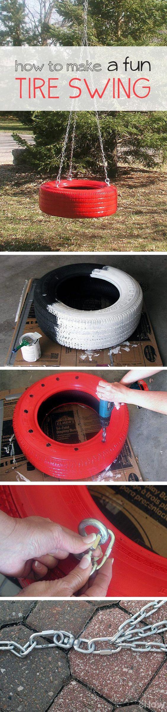 DIY Tire Swings. See more