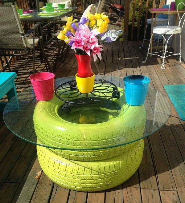 Garden Tire Table. See how