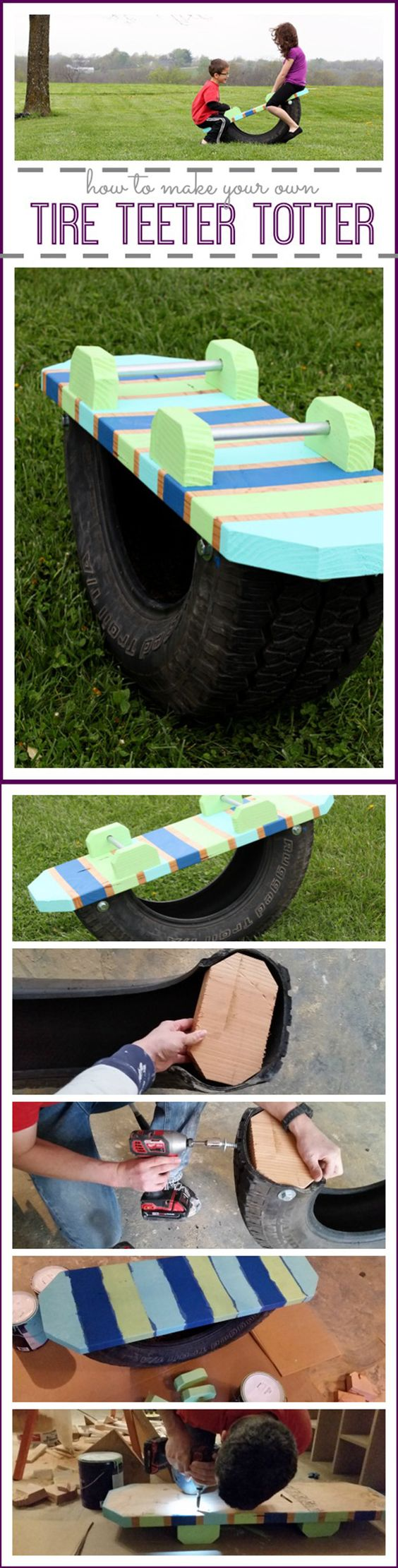Tire Totter for Kids.