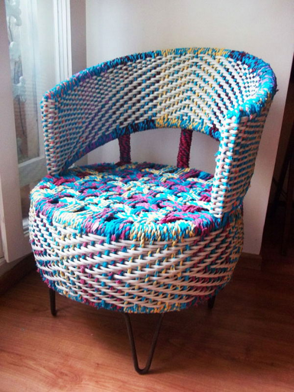 Rope-wrapped Tire Armchair.