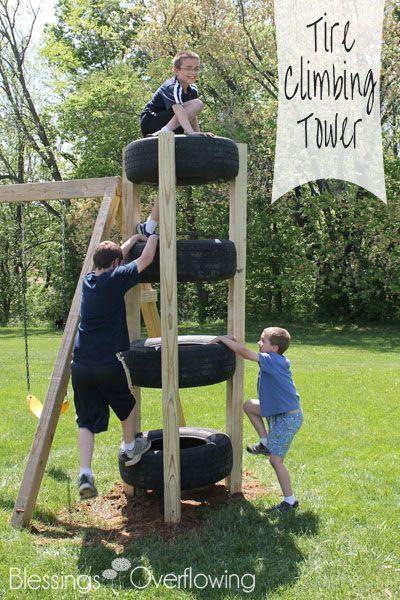 Tire Climbing Tower.