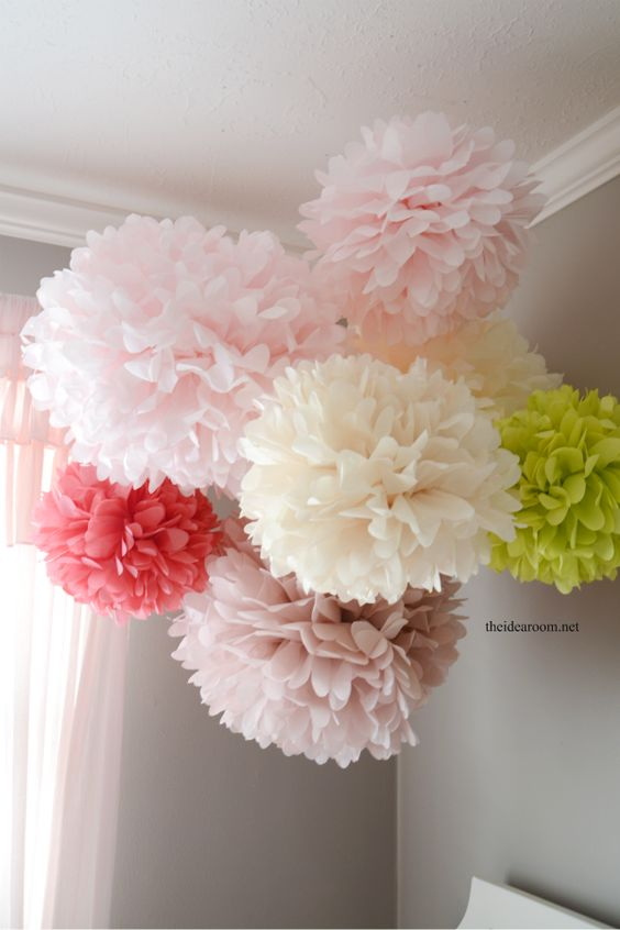 20 easy diy tissue paper crafts 2018 tissue paper pom poms mightylinksfo