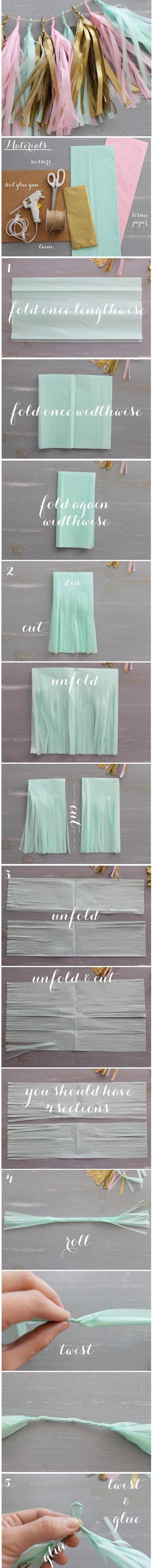 Tissue Paper Tassel Garland.
