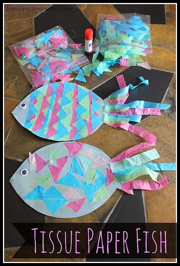 Tissue Paper Fish Craft.